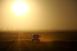 NAMIBIA WALVIS BAY 22APR14 - Sunset over a road near Walvis Bay, Namibia.<br /> <br /> jre/Photo by Jiri Rezac<br /> <br /> © Jiri Rezac 2014