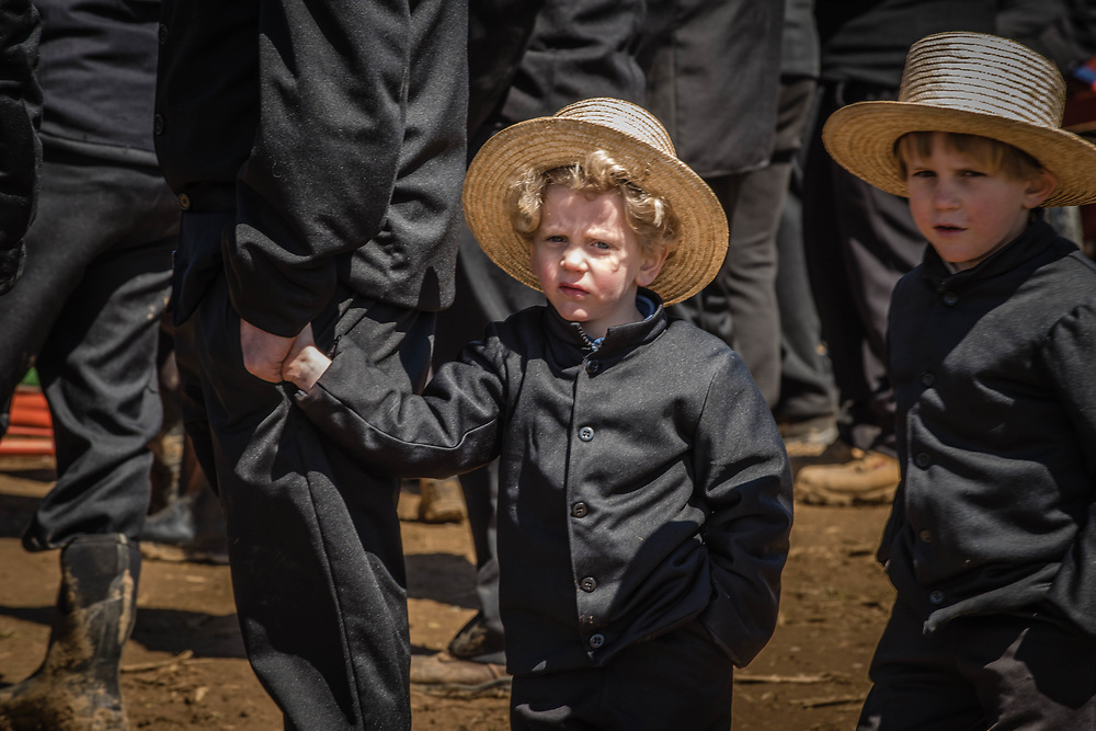Amish Mud Sale, held every spring in Lancaster, PA.  Fund raising for local fire depts.