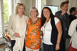 Left to right, ANNABEL ELLIOT, LADY ANNE LAMBTON and LYNNE FRANKS at a lunch in aid of African Solutions To African Problems held at Il Bottaccio, 9 Grosvenor Place, London on 20th May 2008.<br />