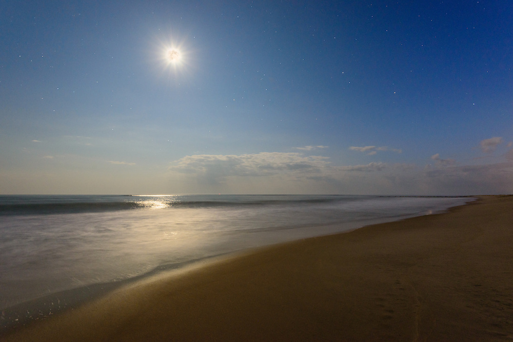 Moonlight, Georgica Beach, East Hampton, Long Island, NY
