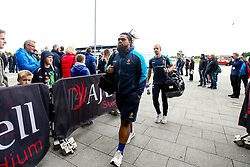 Joe Taufete'e of Worcester Warriors arrives at The AJ Bell Stadium for his side's Gallagher Premiership fixture against Sale Sharks - Mandatory by-line: Robbie Stephenson/JMP - 09/09/2018 - RUGBY - AJ Bell Stadium - Manchester, England - Sale Sharks v Worcester Warriors - Gallagher Premiership
