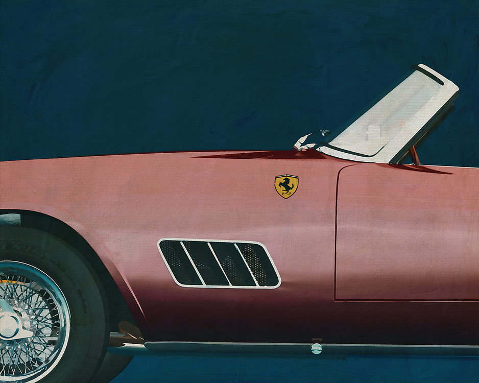If you want to give your interior an extra stylish detail, this painting by a 1960 Ferrari 250GT Spyder California is perfect. –<br />