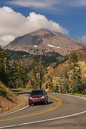 Lassen Peak above Highway 89,  Lassen Volcanic National Park, California