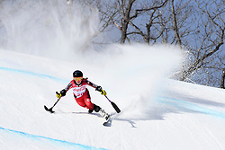 TURGEON Frederique LW2 CAN competing in the Para Alpine Skiing Downhill at the PyeongChang2018 Winter Paralympic Games, South Korea