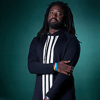 Marlon James, the Jamaican Man Booker Prize nominee,  at the Edinburgh International Book Festival 2015.<br /> Edinburgh, Scotland. 27th August 2015 <br /> <br /> Photograph by Gary Doak/Writer Pictures<br /> <br /> WORLD RIGHTS