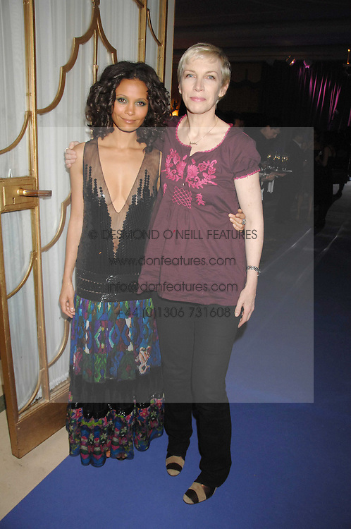 Left to right, THANDIE NEWTON and ANNIE LENNOX at the 10th Anniversary Party of the Lavender Trust, Breast Cancer charity held at Claridge's, Brook Street, London on 1st May 2008.<br /><br />NON EXCLUSIVE - WORLD RIGHTS