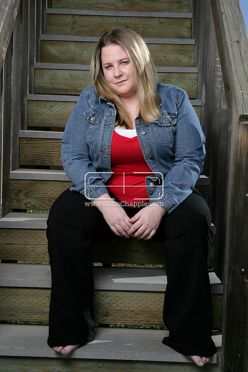 "13th January 2008, Orcutt, California. Stefanie Henderson, who suffered side effects after taking the non-prescription diet drug 'Alli'. ""I couldn't control my bowels,"" said Henderson. ""I was running to the bathroom, leaving meetings, being in the car and literally being stuck."" Henderson stopped using Alli after six weeks..PHOTO © JOHN CHAPPLE / REBEL IMAGES.john@chapple.biz    www.chapple.biz"