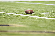 NEW ORLEANS, LA - SEPTEMBER 20:  NFL Football sits at the goal line during a game between the New Orleans Saints and the Tampa Bay Buccaneers at Mercedes-Benz Superdome on September 20, 2015 in New Orleans Louisiana.  The Buccaneers defeated the Saints 26-19. (Photo by Wesley Hitt/Getty Images) *** Local Caption ***