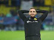 Paco Alcaser of Dortmund warms up during  the Champions League round of 16, leg 2 of 2 match between Borussia Dortmund and Tottenham Hotspur at Signal Iduna Park, Dortmund, Germany on 5 March 2019.
