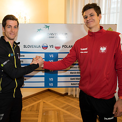 20180202: SLO, Tennis - Davis Cup 2018, Slovenia vs Poland, Official draw