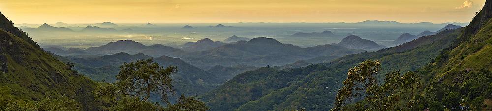 morning light through Ella Gap Ella Sri Lanka