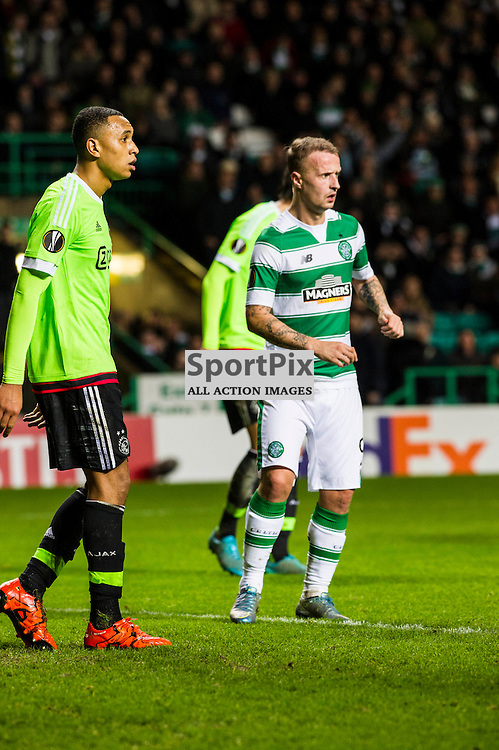 Kenny Tete keeps a close eye on Leigh Griffiths as Celtic host Ajax at Parkhead in the Europa League.<br /> &copy; Ger Harley/ SportPix.org.uk 26 November 2015