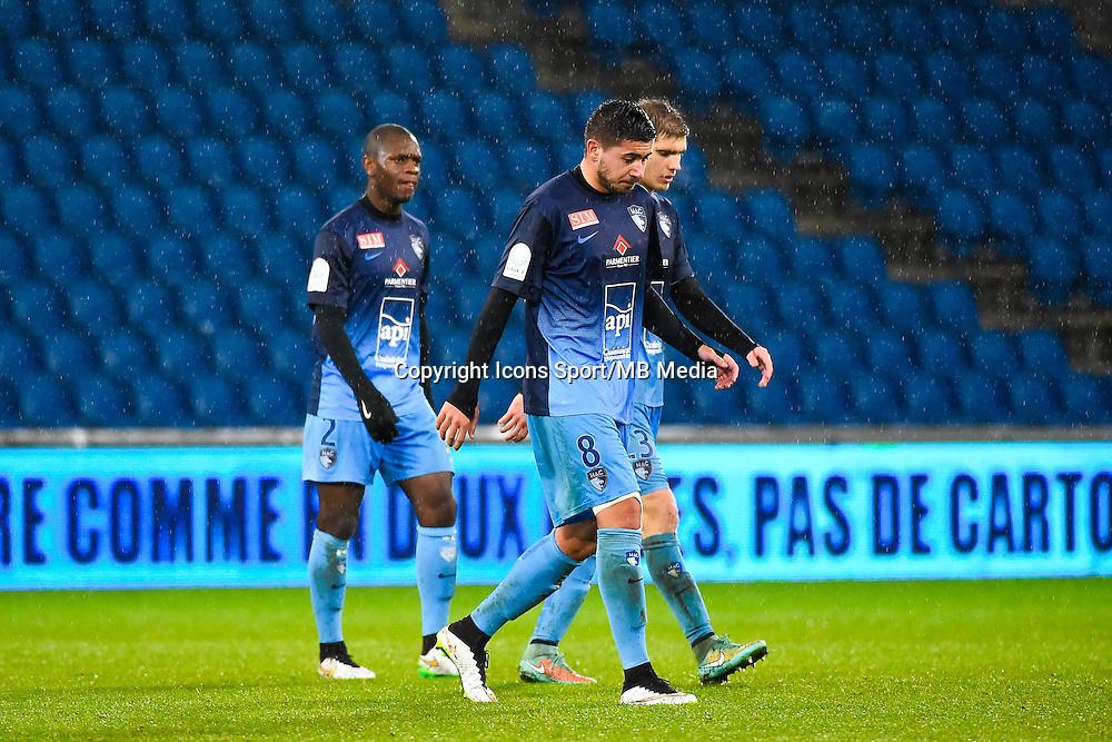 Deception Le Havre - Mickael LE BIHAN  - 12.12.2014 - Le Havre / Laval - 17eme journee de Ligue 2 <br /> Photo : Fred Porcu / Icon Sport