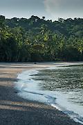 Pacific Ocean beach at low tide, Las Perlas archipelago,Panama,Central America