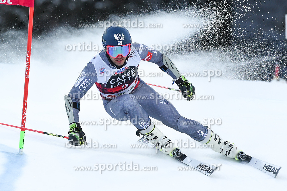17.12.2017, Grand Risa, La Villa, ITA, FIS Weltcup Ski Alpin, Alta Badia, Riesenslalom, Herren, 1. Lauf, im Bild Mathieu Faivre (FRA) // Mathieu Faivre of France in action during his 1st run of men's Giant Slalom of FIS ski alpine world cup at the Grand Risa in La Villa, Italy on 2017/12/17. EXPA Pictures © 2017, PhotoCredit: EXPA/ Erich Spiess