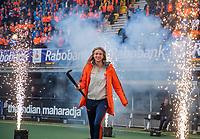 Den Bosch - Rabo fandag 2019 . hockey clinics met de spelers van het Nederlandse team. opkomst van international Sanne Koolen (Ned) .   COPYRIGHT KOEN SUYK