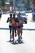 Sondre Nordstad Moen (NOR) defeats Stephen Kiprotich (UGA) and Bdan Karoki (KEN) to win the 2017 Fukuoka Marathon in 2:05:48 in Fukuoka, Japan on Sunday, Dec. 3, 2017.  (Kazuaki Matsunaga/ Image of Sport)