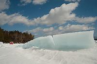 Pressure rifts build up at Leavitt Beach in Meredith, New Hampshire.  Karen Bobotas Photographer