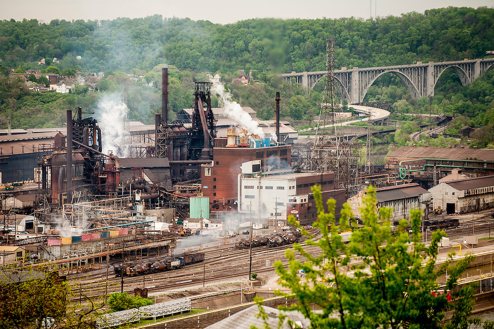 With a population of just over 2,000 (down from a high of  20,879 at the height of the steel industry, Braddock is almost a ghost town even though it is the home of the last steel mill still in operation in the Monongahela River valley. The Edgar Thompson Steel Works, built in 1872, was the first major steel mill built in the United States. Braddock was originally built to house the mill's workers, but none of the mill's nine hundred or so employees live there.