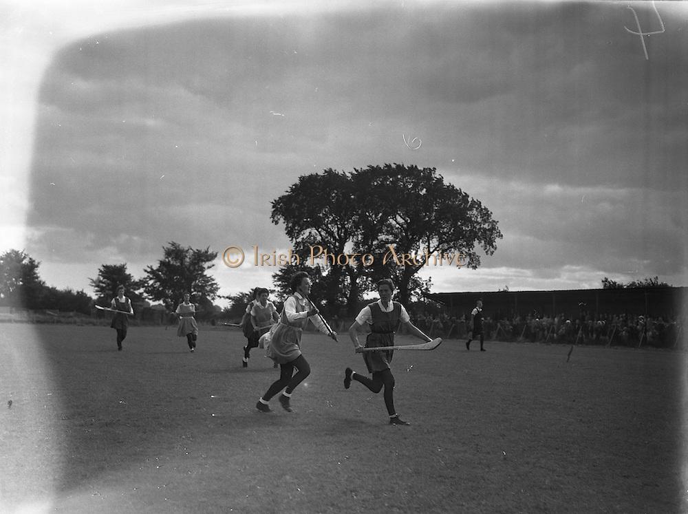 08/09/1957<br /> 09/08/1957<br /> 08 September 1957<br /> <br /> Camogie semi-final, Cork vs Dublin.