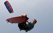 Kite surfers in Dewey Beach Delaware, 27 July 2006