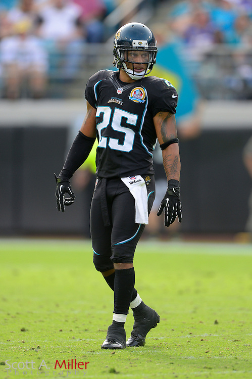 Jacksonville Jaguars free safety Dwight Lowery (25) during an NFL game against the New York Jets at EverBank Field on Dec 9, 2012 in Jacksonville, Florida. The Jets won 17-10...©2012 Scott A. Miller..