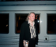 CHRISTOPHER HAMPTON, The opening night party for the second year of The Bridge Project,   Silverfleet on the River Thames. Savoy Pier. London. 23 June 2010. -DO NOT ARCHIVE-© Copyright Photograph by Dafydd Jones. 248 Clapham Rd. London SW9 0PZ. Tel 0207 820 0771. www.dafjones.com.