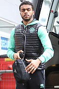 Queens Park Rangers defender Darnell Furlong (2) gets off the team bus prior to the EFL Sky Bet Championship match between Hull City and Queens Park Rangers at the KCOM Stadium, Kingston upon Hull, England on 16 March 2019.