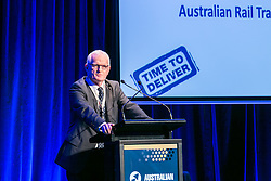 Mr John Fullerton, Managing Director & CEO, Australian Rail Track Corporation. Day 2. ALC Forum 2014. Australian Logistics Council. Royal Randwick Racecourse. Sydney. Photo: Pat Brunet/Event Photos Australia