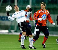 Fotball<br /> Treningskamp 2007 <br /> 26.01.2007<br /> Aafk v odd 2-3<br /> Foto: Richard Brevik - Digitalsport<br /> <br /> Magnus kihlberg - aalesund<br /> Magnus lekven - odd