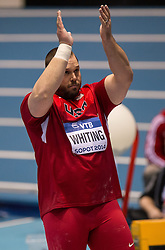 07.03.2014, Ergo Arena, Sopot, POL, IAAF, Leichtathletik Indoor WM, Sopot 2014, Tag 1, im Bild RYAN WHITING RADOSC // RYAN WHITING RADOSC during day one of IAAF World Indoor Championships Sopot 2014 at the Ergo Arena in Sopot, Poland on 2014/03/07. EXPA Pictures © 2014, PhotoCredit: EXPA/ Newspix/ Rafal Oleksiewicz<br /> <br /> *****ATTENTION - for AUT, SLO, CRO, SRB, BIH, MAZ, TUR, SUI, SWE only*****