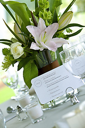 July 21, 2019 - Menu Card On Table Next To Flower Vase (Credit Image: © Colleen Cahill/Design Pics via ZUMA Wire)