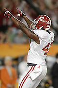 January 7, 2013: Alabama running back Eddie Lacy (42) celebrates after a touch down during 1st half of the Discover BCS National Championship game between the Alabama Crimson Tide and the Notre Dame Fighting Irish at Sun Life Stadium in Miami Gardens, Fl