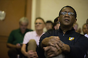 Bill Cartwright watches the University of San Francisco Dons host the San Francisco State University Gators at Kezar Pavilion in San Francisco, Calif., on December 6, 2016. (Stan Olszewski/Special to S.F. Examiner)
