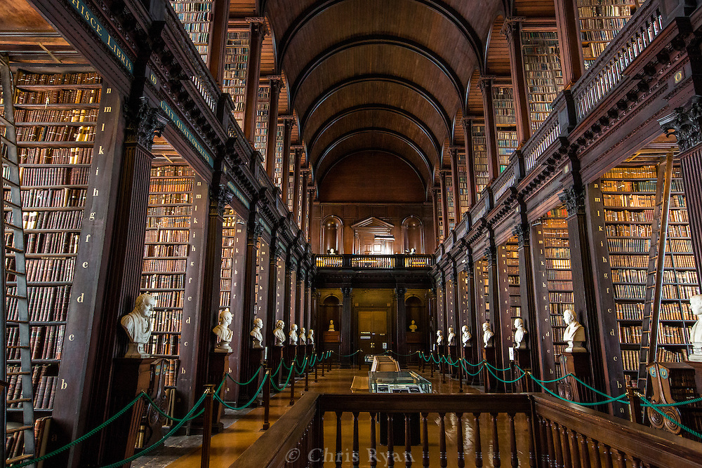 Long Room Library at Trinity College, Dublin