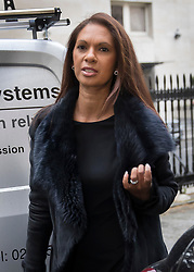 "© Licensed to London News Pictures. 26/04/2017. London, UK. Gina Miller arrives for the Launch of the Best for Britain initiative. Ms Miller's campaign aims to endorse various candidates in the general election who support it's proposal for a ""meaningful"" vote by MPs at the end of the UK's EU Brexit negotiations. Photo credit: Peter Macdiarmid/LNP"