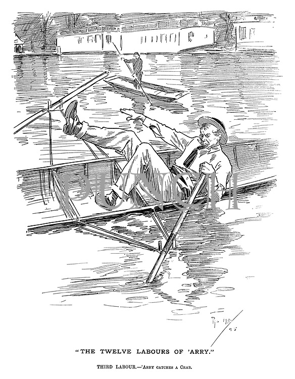 """The Twelve Labours of 'Arry."" Third Labour. — 'Arry catches a crab."