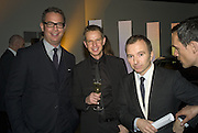 DANIEL MARKS, GORD RAY AND TONY CHAMBERS, Wallpaper Design Awards. Old Post Sorting Office. New Oxford St. London. 9 January 2008. -DO NOT ARCHIVE-© Copyright Photograph by Dafydd Jones. 248 Clapham Rd. London SW9 0PZ. Tel 0207 820 0771. www.dafjones.com.