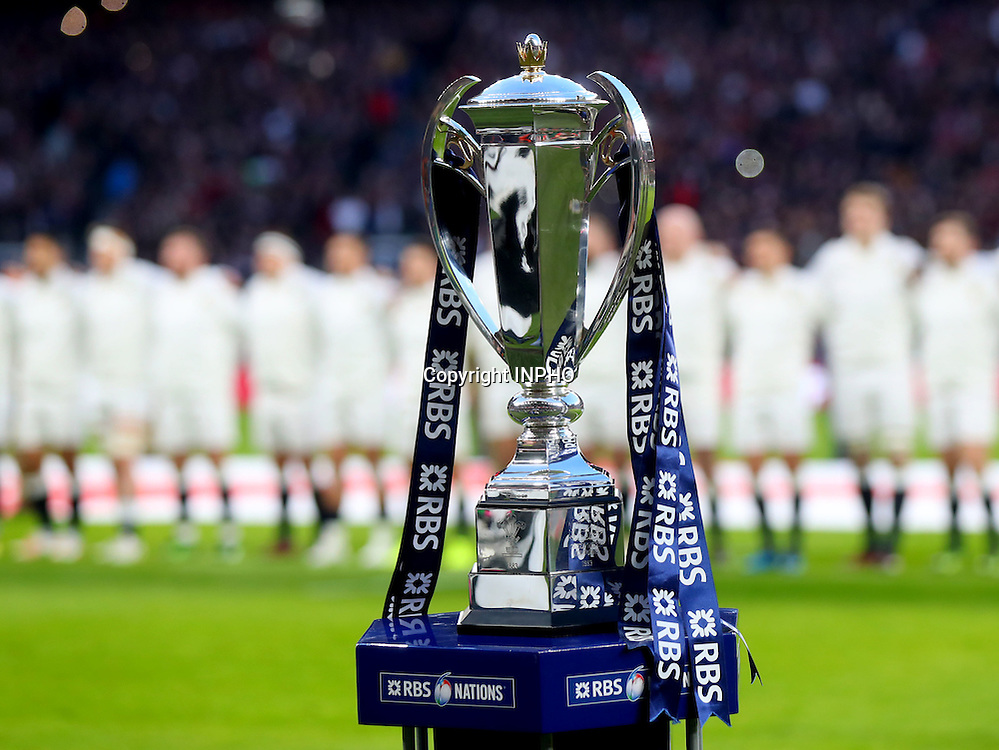 RBS 6 Nations Championship Round 1, Twickenham, London, England 4/2/2017<br /> England vs France<br /> The RBS 6 Nations trophy<br /> Mandatory Credit &copy;INPHO/James Crombie