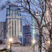 Kansas City MO Skyline from the grounds of Liberty Memorial.