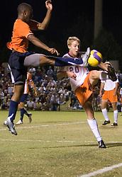 Virginia Cavaliers F Matt Mitchell (9)..The #4 ranked Virginia Cavaliers men's soccer team tied the Virginia Tech Hokies 1-1 at Klockner Stadium in Charlottesville, VA on September 28, 2007.