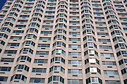 close up apartment building exterior
