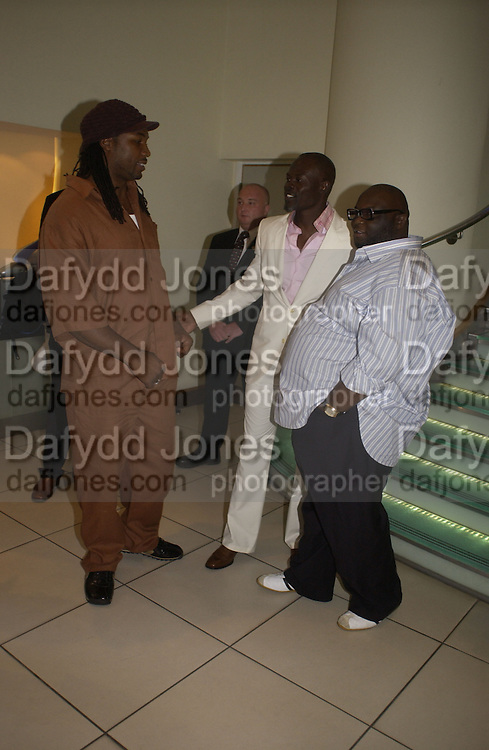 Lennox Lewis, Djimon Hounsou and Ade<br />