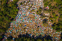 Drone image of the Santiago Atitlán, Guatemala cemetery shown on February 8, 2018. Santiago Atitlán is the largest of towns on the shores of Lago de Atitlán in the country's Mayan highlands.