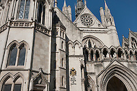 Exterior of The Royal Courts of Justice at London; England; UK