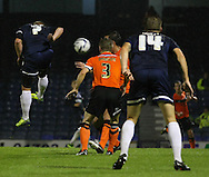 Picture by David Horn/Focus Images Ltd +44 7545 970036<br /> 13/09/2013<br /> Freddy Eastwood of Southend United goes close to opening the scoring during the Sky Bet League 2 match at Roots Hall, Southend.