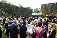 ROME, ITALY - 3 JUNE 2015: Guests are here at the McKim Medal Gala honouring Carlo Petrini and Paolo Sorrentino at the American Academy  in Rome, Italy, on June 3rd 2015.