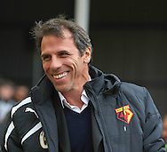 Picture by David Horn/Focus Images Ltd +44 7545 970036<br /> 14/09/2013<br /> Gianfranco Zola Manager of Watford during the Sky Bet Championship match at Vicarage Road, Watford.