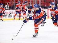 November 1, 2014: The Oklahoma City Barons play the Iowa Wild in an American Hockey League game at the Cox Convention Center in Oklahoma City.
