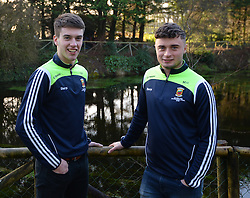Members of Mayo&rsquo;s 2016 U21 All Ireland winning team David Kenny and Michael Hall.<br />Pic Conor McKeown